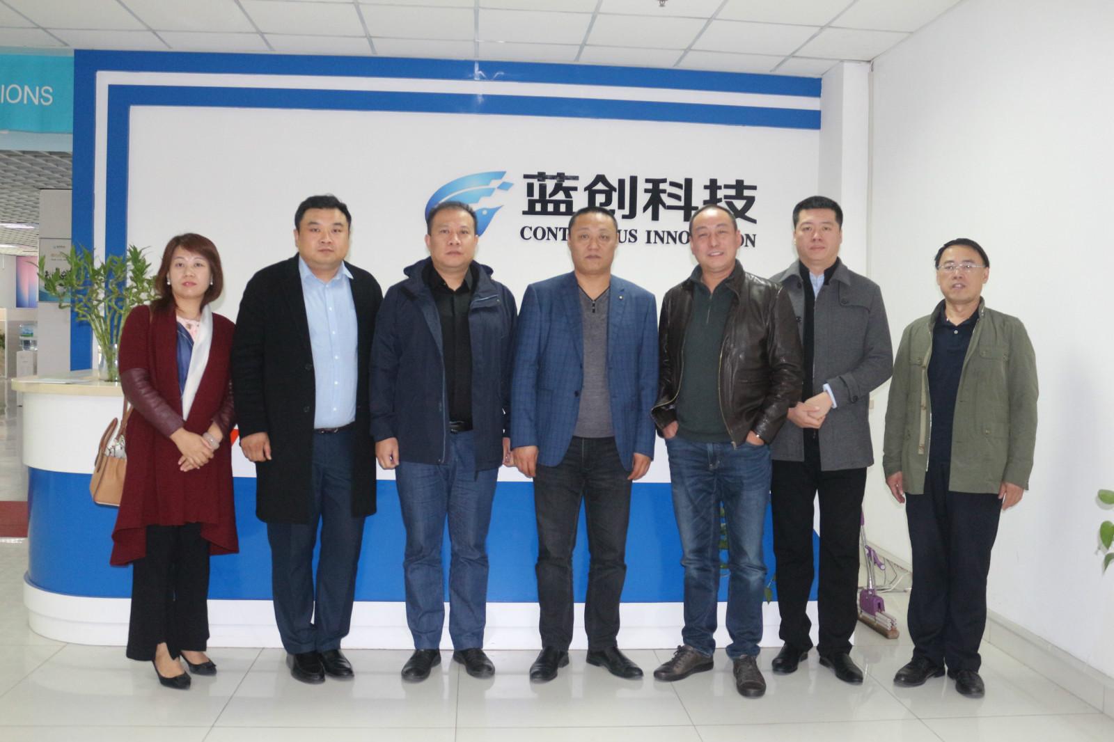 中船重工(武漢)凌久高科有限公司事業部總經理陳奇武一行參觀考察藍創科技