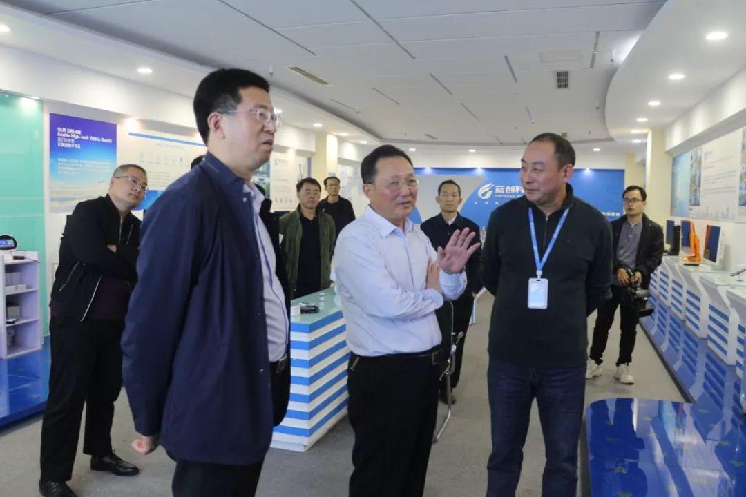 市委重大決策推進服務中心主任杜天斌一行調研藍創科技